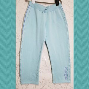 Adidas Baby Blue High Rise Sweatpants w/ Spellout